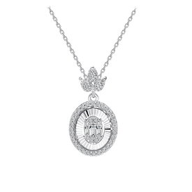 Baguette Diamant Collier 0,27 ct Weißgold 585