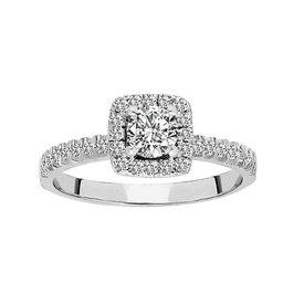 Solitär Diamantring 0,75 ct Weißgold 585