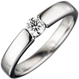 Solitär Zirkonia Ring Silber