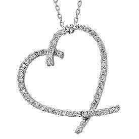 Herz Diamant Collier 0,32 ct Weißgold 585