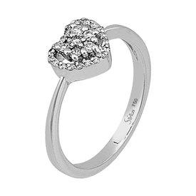 Diamant Ring Herz 0,20 ct Weißgold 750