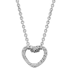 Diamant Herz Collier Weißgold 585