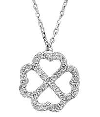 Artikel mit Schlagwort Diamant Collier Kleeblatt Weißgold