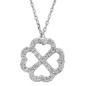 Diamant Collier Kleeblatt 0,32 ct Weißgold 585