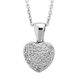 Diamant Herz Collier 0,18 ct Weißgold 585