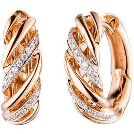 Creolen Rotgold 585 Diamanten