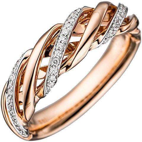 Diamant Ring Rotgold 585