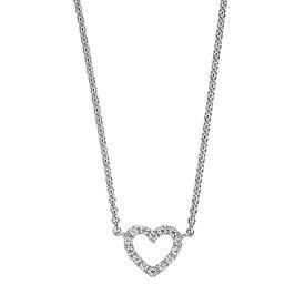Zirkonia Herz Collier Silber
