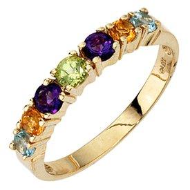 Farbedelstein Ring Gelbgold 333