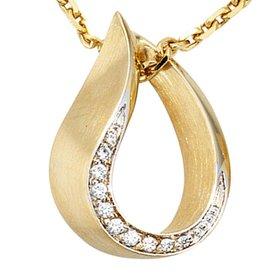 Diamant-Anhänger Gelbgold 585