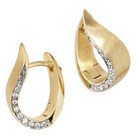 Diamant Creolen Gelbgold 585