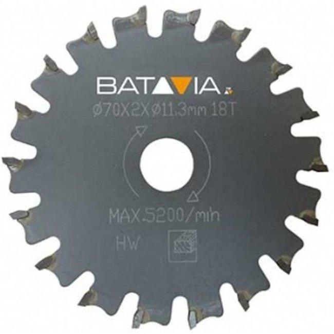 Batavia RACER TCT Sägeblätter - 2 Stück - ∅ 70 mm x 1,4 mm x 18 Zähne Arbeitszone