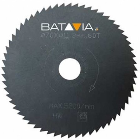 Batavia RACER HSS Sägeblätter - 2 Stücke - ∅ 70mm x 1,4mm x 44 Zähnen des Arbeitsbereiches