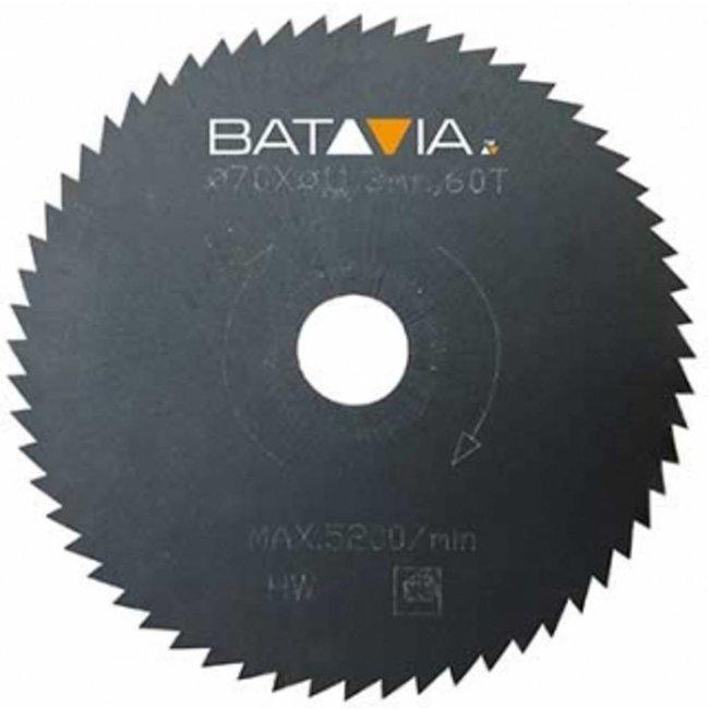 Batavia Lames de scie RACER HSS - 2 pièces -∅ 70 MM x 1,4 MM x 60 dents de WorkZone
