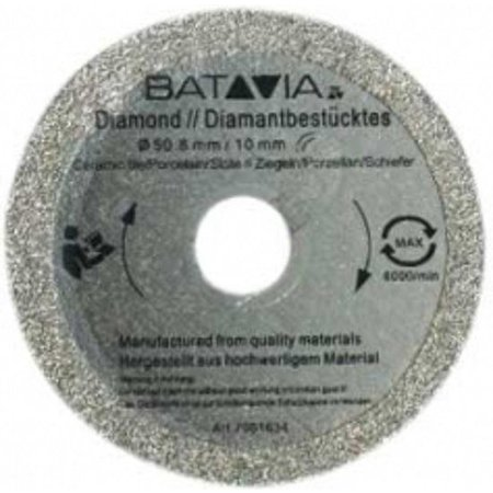 Batavia RACER Diamond saw blades - 2 pieces -∅ 50 MM x 1.45 MM from WorkZone