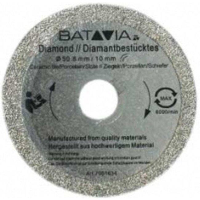 Batavia RACER Diamond saw blades - 2 pieces -∅ 50 MM x 1.45 MM from WorkZone