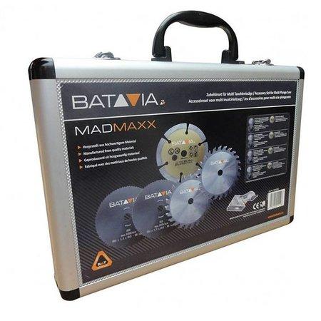 Batavia MAD MAXX zaagbladenset – 5 stuks - in aluminium koffer