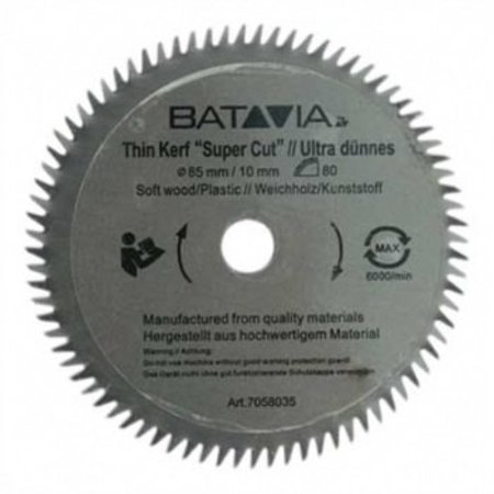 Batavia HSS zaagblad Ø 85 mm. 60 Tanden – 2 stuks - MAXX SAW & XXL SPEED SAW