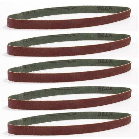Batavia Bandes abrasives 8mm - K120 | 5 pièces