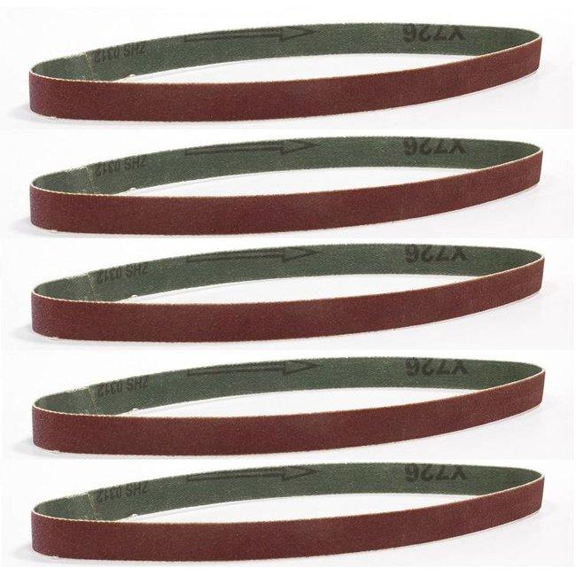 Batavia Set of sanding belts 8 mm – K120 | 5 pieces