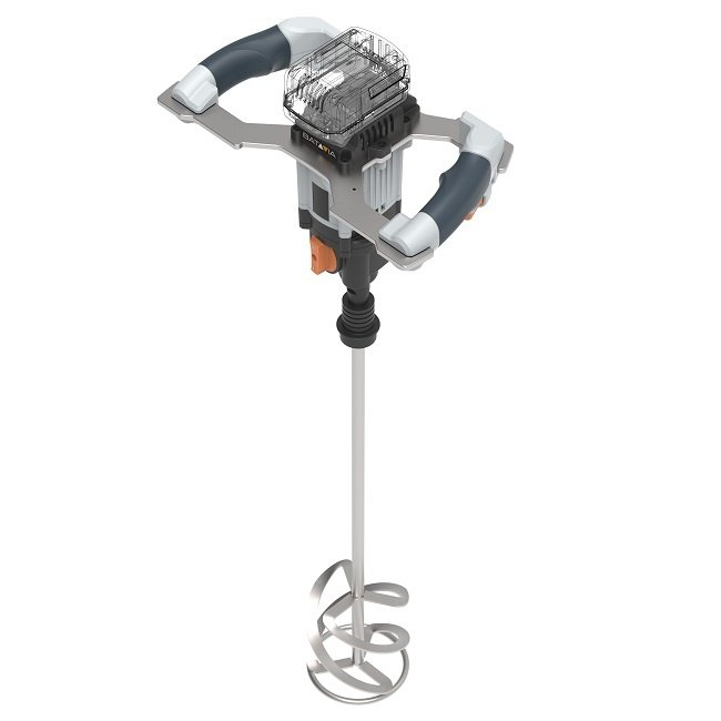 Batavia Accu Verf- en Cement Mixer - 18V   Excl. Accu en Lader   MaxxPack Accuplatform