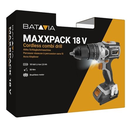 Batavia Batavia brushless cordless drill with hammer drill function | Maxxpack Collection