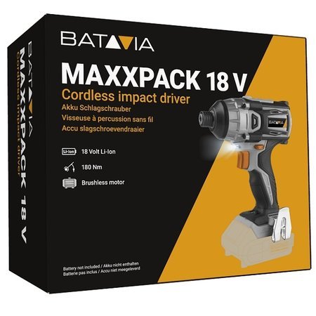 Batavia 18V Li-Ion accu Brushless slagschroevendraaier | Maxxpack Collection