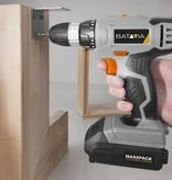 Cordless drill + Cordless screwdriver | With battery and charger Maxxpack