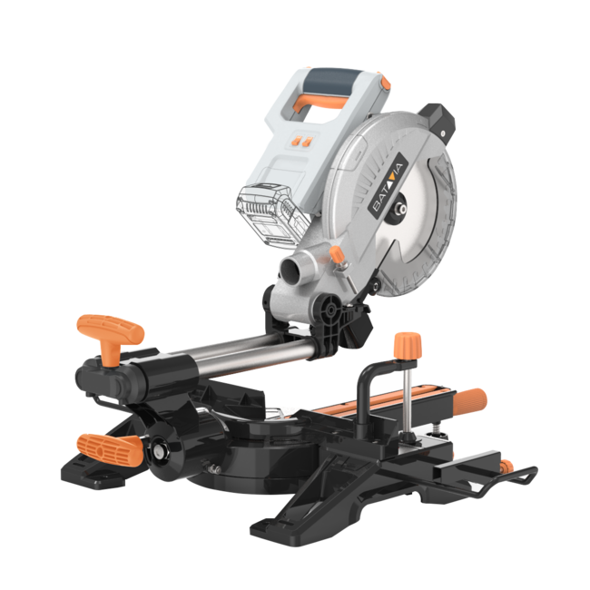 Batavia Cordless Miter Saw - 18V | Excl. Battery and Charger | MaxxPack Battery Platform