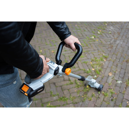 Batavia COMBIDEAL - 18 V Joint brush Weed brush with 2.0 Ah battery and 2.4 Ah charger | Maxxpack | Wireless