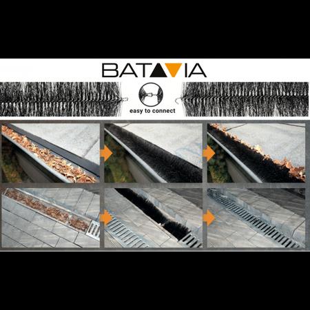 Batavia 4 gutter tiles | 16 meters | gutter protector