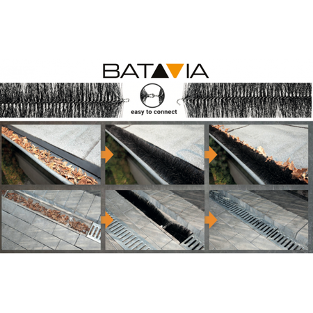 Batavia 2 tuiles de gouttière | 8 mètres | protecteur de gouttière
