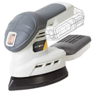 Batavia Cordless Multi Sander - 18V | Excl. Battery and Charger | MaxxPack Battery Platform