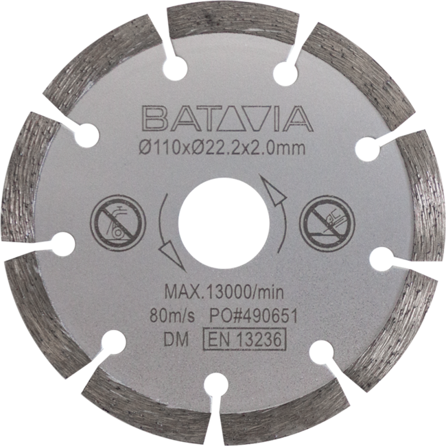 Batavia Diamond Saw Blade for Circular Saw   110mm Diameter