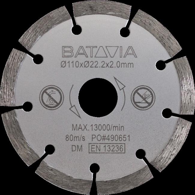 Batavia Lame de scie diamantée pour scie circulaire | 110 mm de diamètre