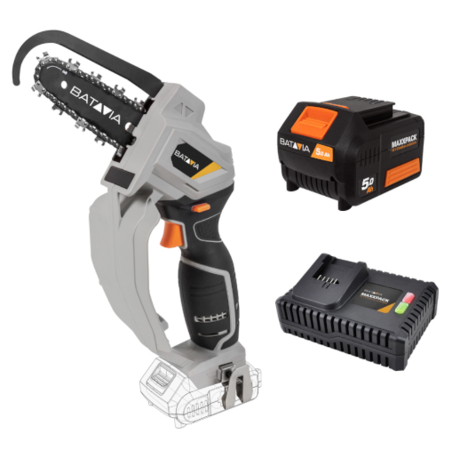 Batavia Battery one-hand saw - Nexxsaw - 18V | incl. 5.0Ah Battery and 4.0A Fast Charger | MaxxPack Battery Platform