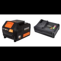 Batterie Batavia 18V 5.0  avec Chargeur rapide 4.0
