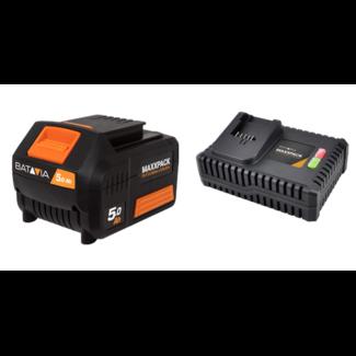 Batavia Battery 5.0Ah and Fast Charger 4.0A - 18V | MaxxPack Battery Platform