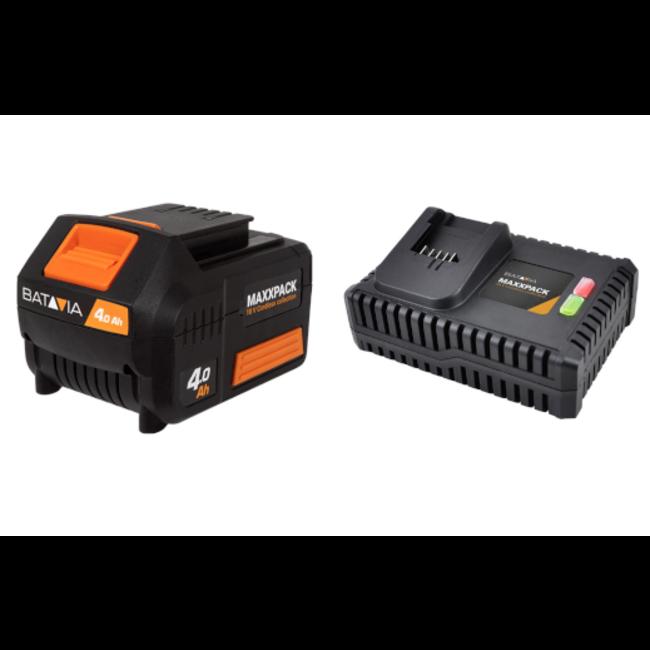 Batavia Battery and Fast Charger 4.0Ah - 18V   MaxxPack Battery Platform