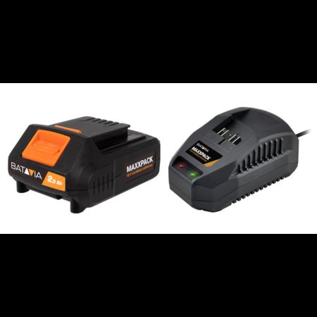 Batavia Batterie 2.0Ah et Chargeur 2.4Ah - 18V   Plateforme de batterie MaxxPack