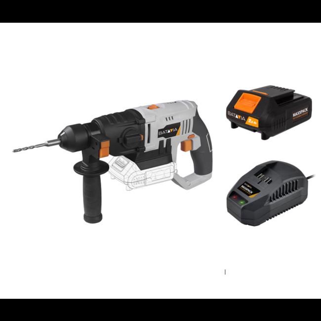 Batavia Marteau perforateur sans fil - SDS Plus - 18V   incl. Batterie et chargeur   Plateforme de batterie MaxxPack