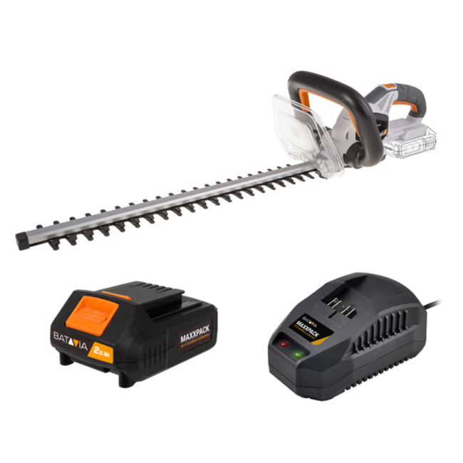 Batavia Battery Hedge Trimmer - 18V | incl. Battery and Charger | MaxxPack Battery Platform