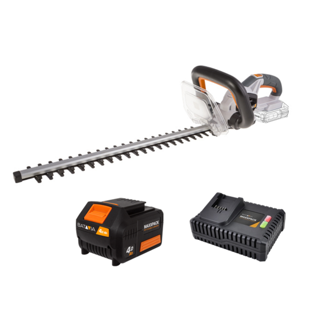 Batavia Battery Hedge Trimmer - 18V   incl. 4.0Ah Battery and Fast Charger   MaxxPack Battery Platform