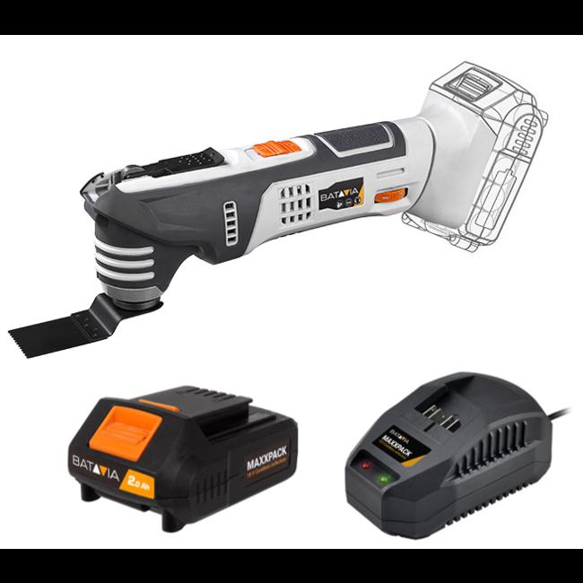 Batavia Multitool oscillant à batterie - 18V | incl. Batterie et chargeur | Plateforme de batterie MaxxPack