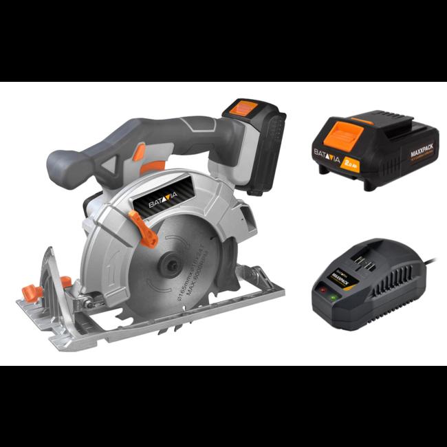 Batavia Cordless Circular Saw - 18V   incl. Battery and Charger   MaxxPack Battery Platform