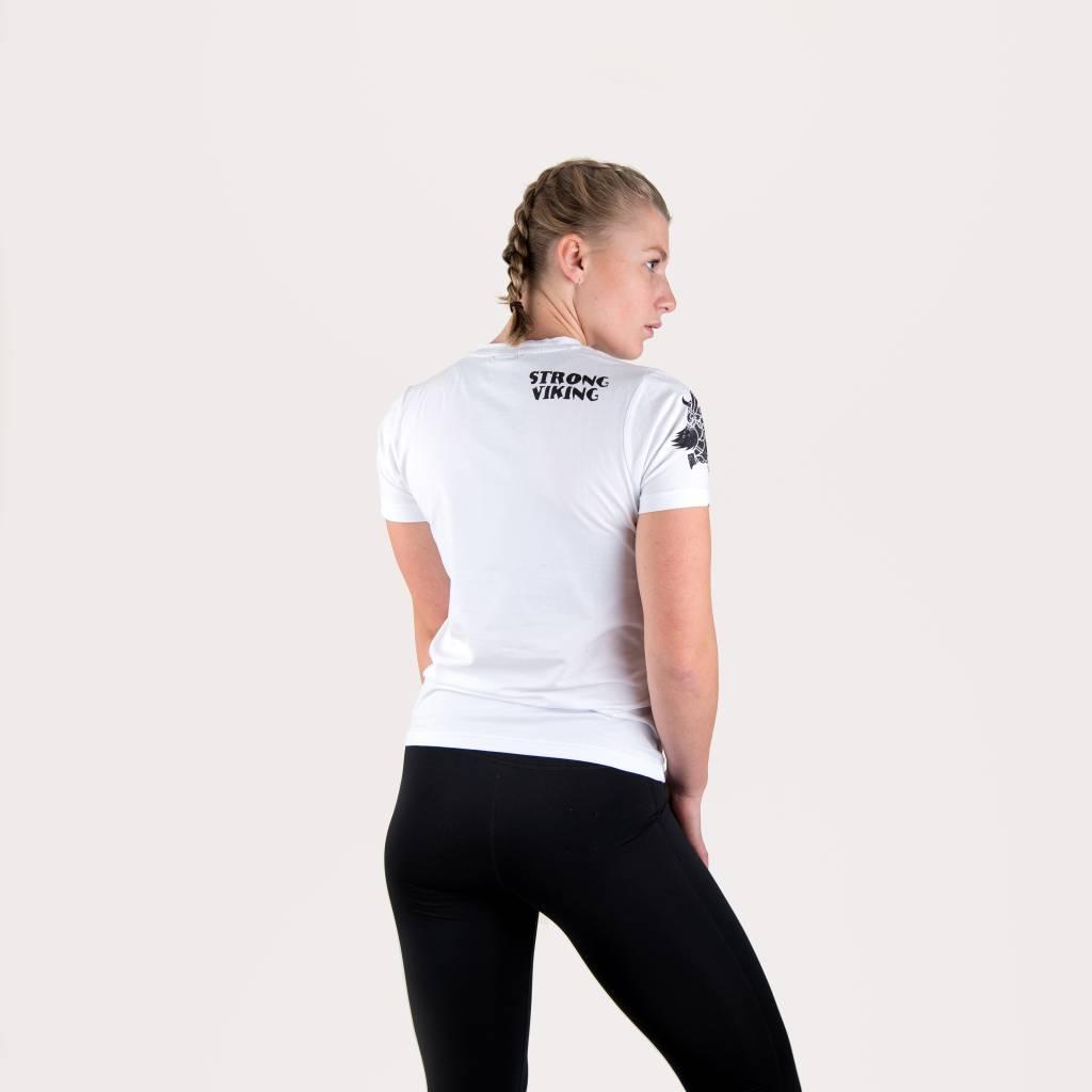 Strong Viking Casual White Shirt - Women