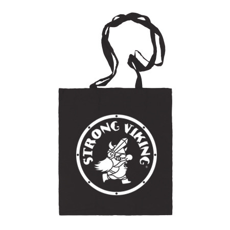 Strong Viking Canvas Bag Black/White
