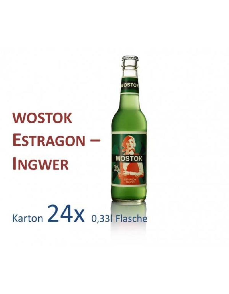 Wostok Wostok Estragon - Ingwer 24 x 330ml