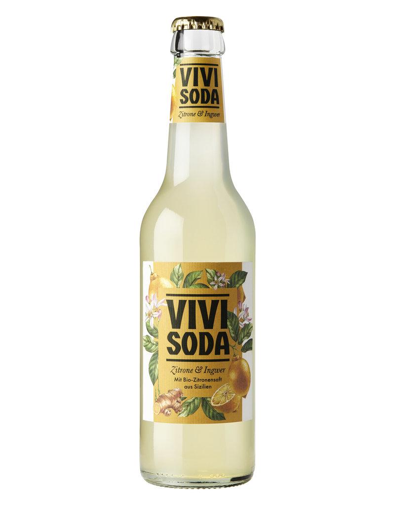 Vivi Soda Zitrone & Ingwer 24x33cl BIO
