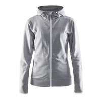 Craft Leisure Hood Full Zip vest dames  grijs